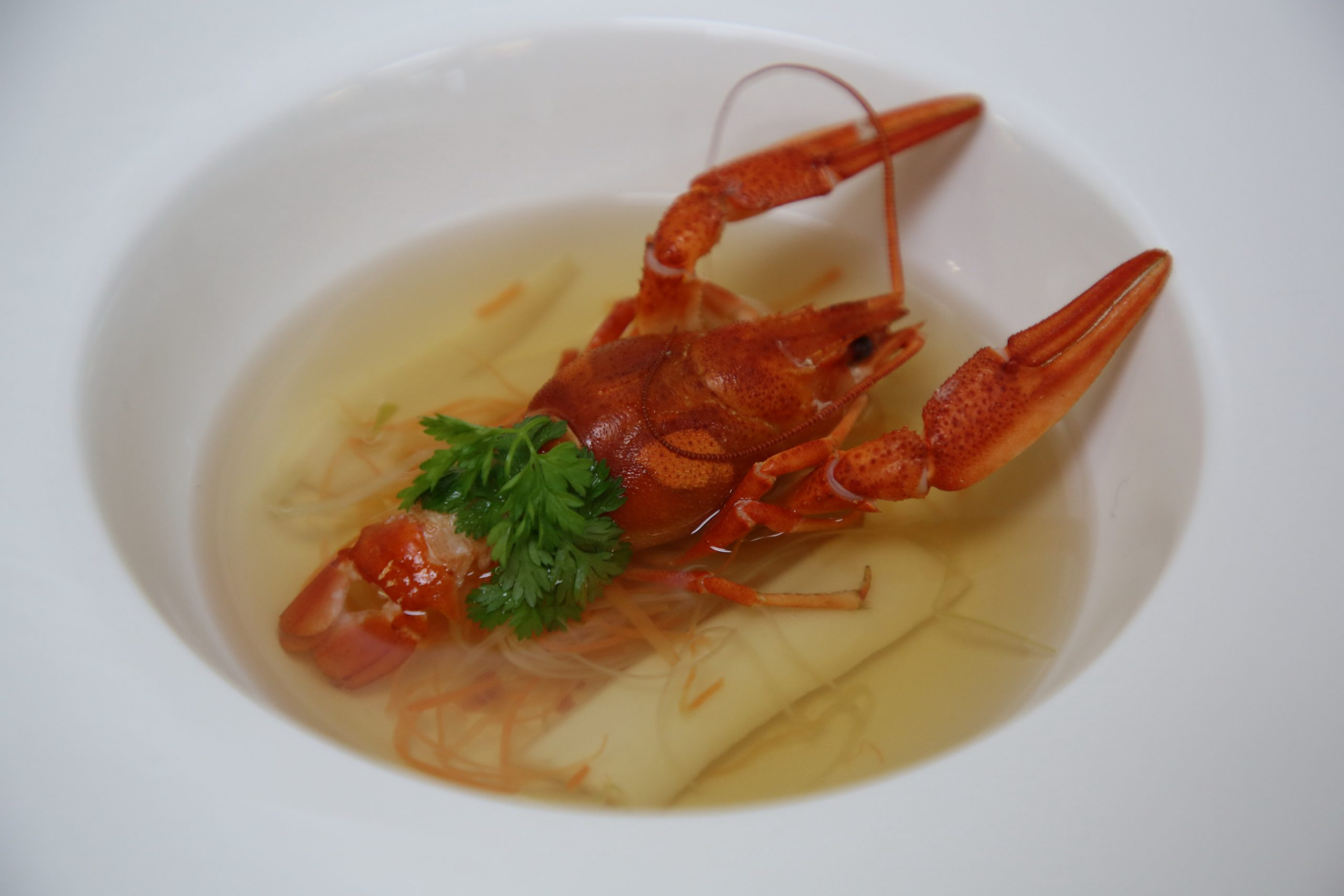 23. Pernod Perfumed Seafood Consomme